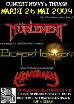 HÜRLEMENT + BLACK HORIZON + HEMORAGY