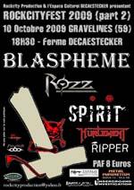 BLASPHEME + ROZZ + SPIRIT + HÜRLEMENT + RIPPER